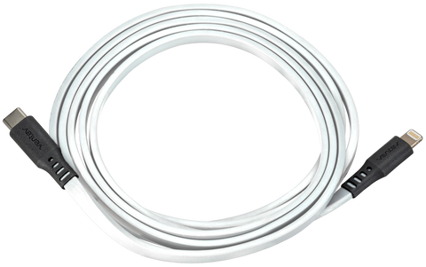 VENTEV CHARGESYNC ALLOY USB-C TO LIGHTNING FLAT CABLE 6FT (WHITE)