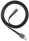 VENTEV CHARGESYNC 3.3ft. LIGHTNING FLAT CABLE (BLACK)