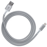 VENTEV CHARGESYNC ALLOY USB-A TO LIGHTNING CABLE 4FT (SILVER)