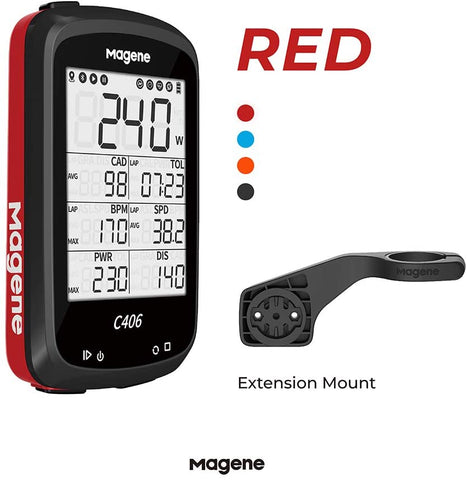 MAGENE C406 BIKE COMPUTER (RED)