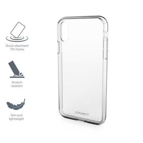 CYGNETT AEROSHIELD SLIM PROTECTIVE CASE - CLEAR - IPHONE XS MAX