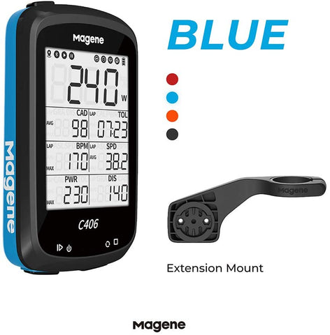 MAGENE C406 BIKE COMPUTER (BLUE)