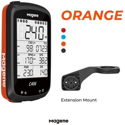MAGENE C406 BIKE COMPUTER (ORANGE)