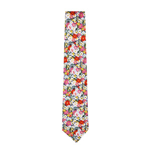 Liberty cotton classic floral tie made in New Zealand by Parisian in Libby Design