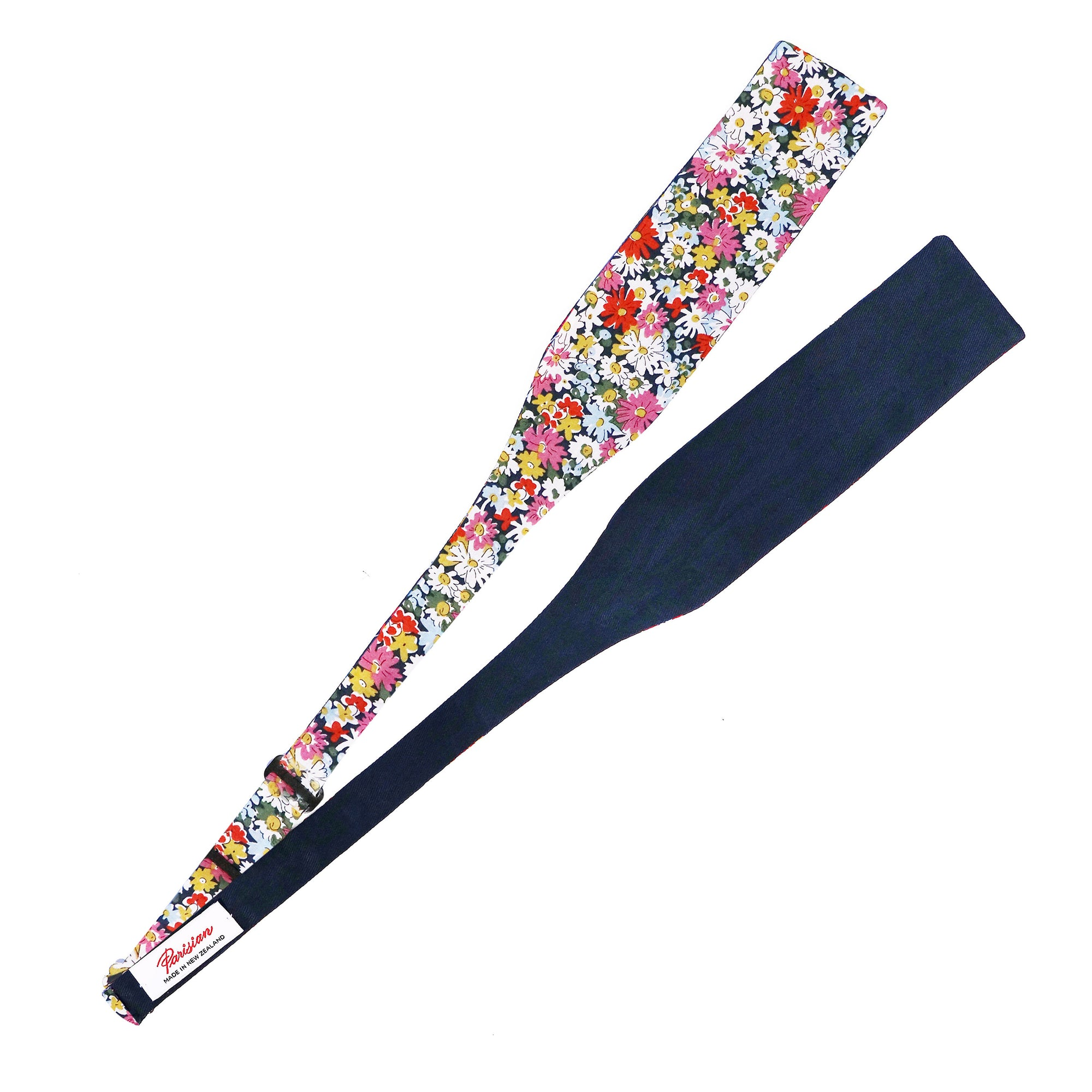 Create your own dapper style with this Liberty cotton floral self tie bow tie  made in NZ by Parisian - fully adjustable