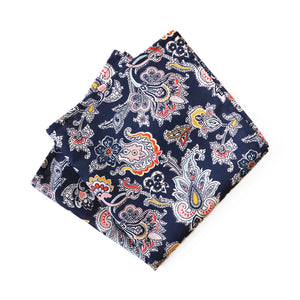 Liberty cotton pocket square made in NZ by Parisian. Match with ties, bow ties, braces and masks