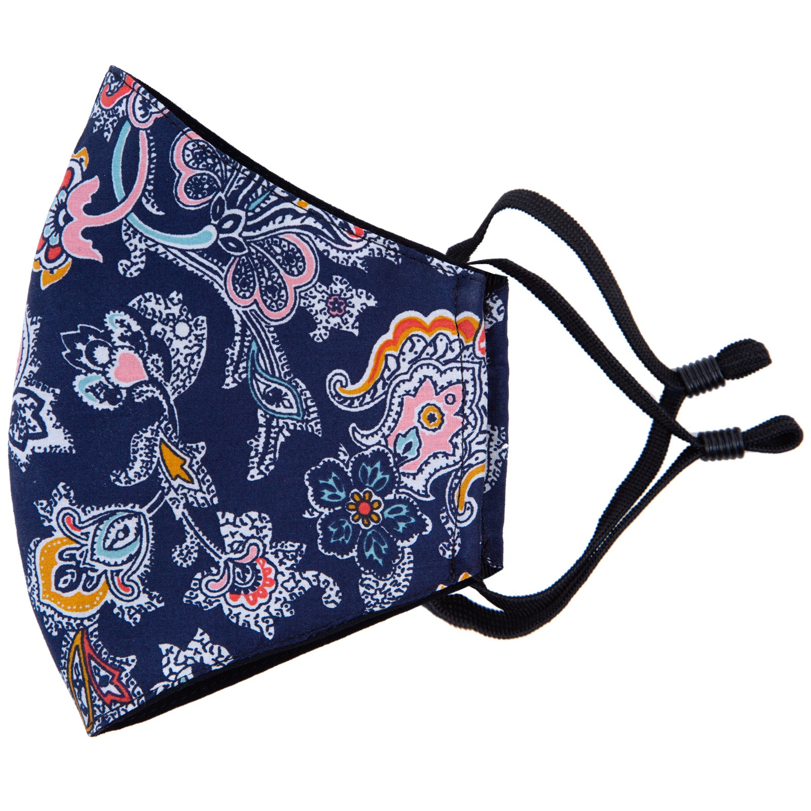 match this paisley face mask to your tie, bow tie, pocket square or braces with Liberty cotton masks, made in NZ by Parisian