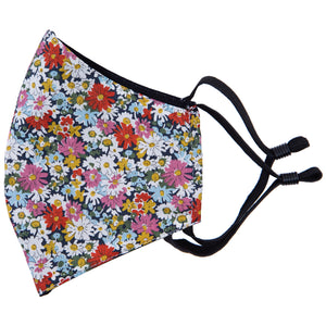 match this floral face mask to your tie, bow tie, pocket square or braces with Liberty cotton masks, made in NZ by Parisian