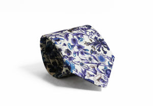 Liberty cotton classic floral tie made in New Zealand by Parisian in Rachel Design