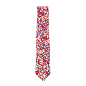 Liberty cotton classic floral tie made in New Zealand by Parisian in Emma and Georgina Design