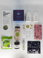 The Nourished Mumma Box HotteaMama, Amphora Aromatics essential oils and lip balm, Chocolateeha vegan gluten free chocolate, Cytoplan pregnancy supplements, The Protein Ball Company