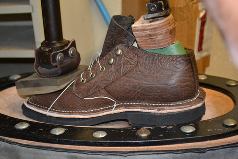 Attaching the sole to the Safari boot