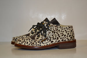 Women's Hair-On Cowhide Safaris (Polka-Dot Print) - Genuine Leather Boots by Al's Safaris