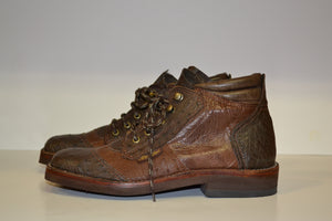 Women's Two-Toned Ostrich Safaris - Genuine Leather Boots by Al's Safaris