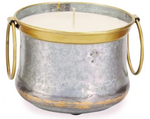 Candle: Silver With Handles