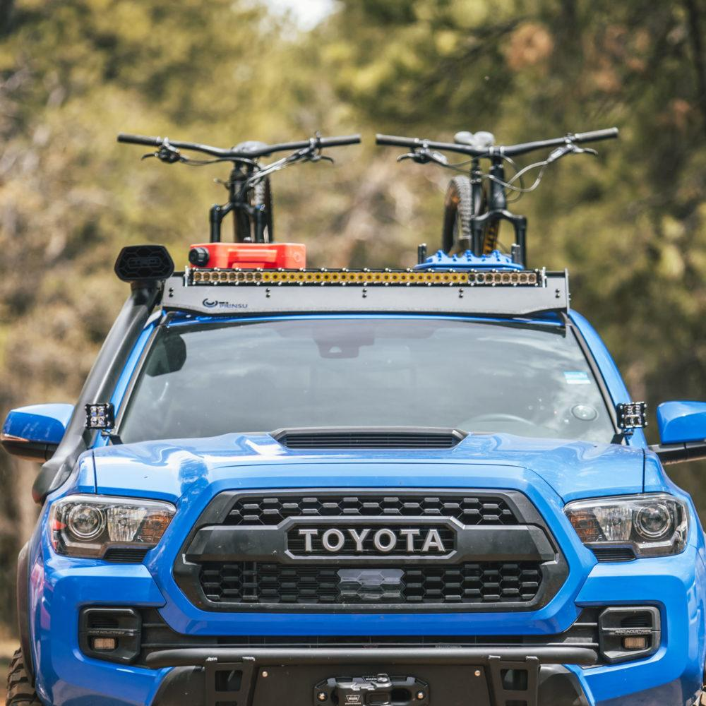 Toyota pickup with roof rack