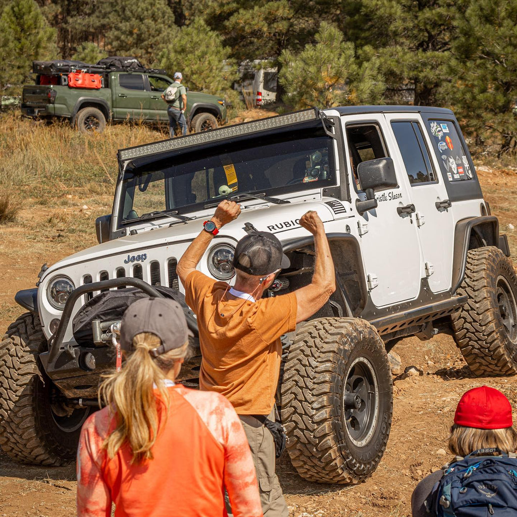 Jeep on driving skills course Overland Expo
