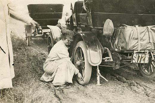 Alice Ramsey Changes a Tire