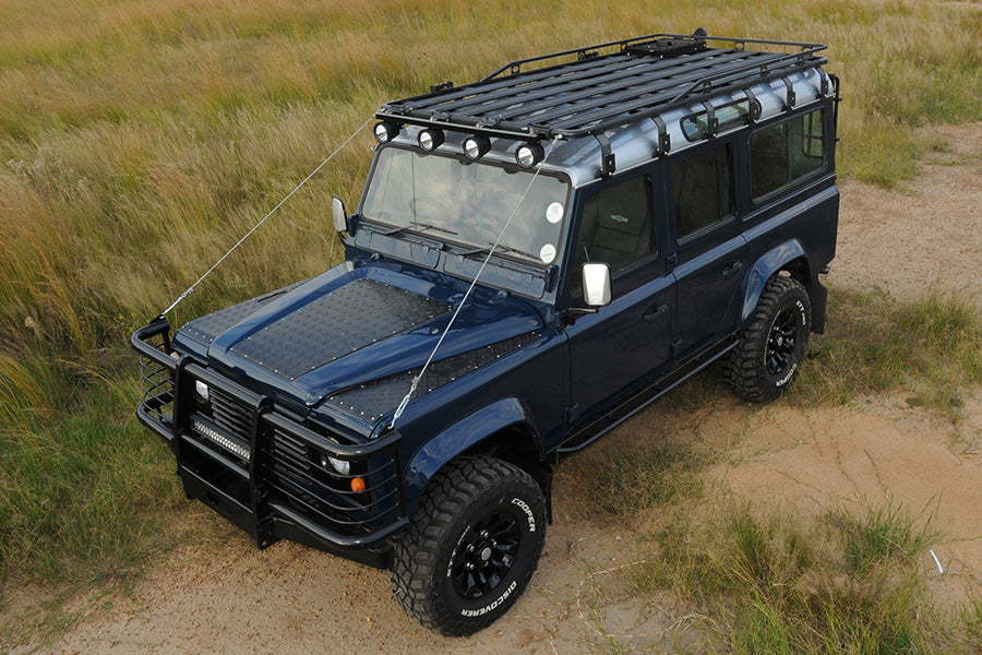 Eezi-Awn roof rack on Land Rover