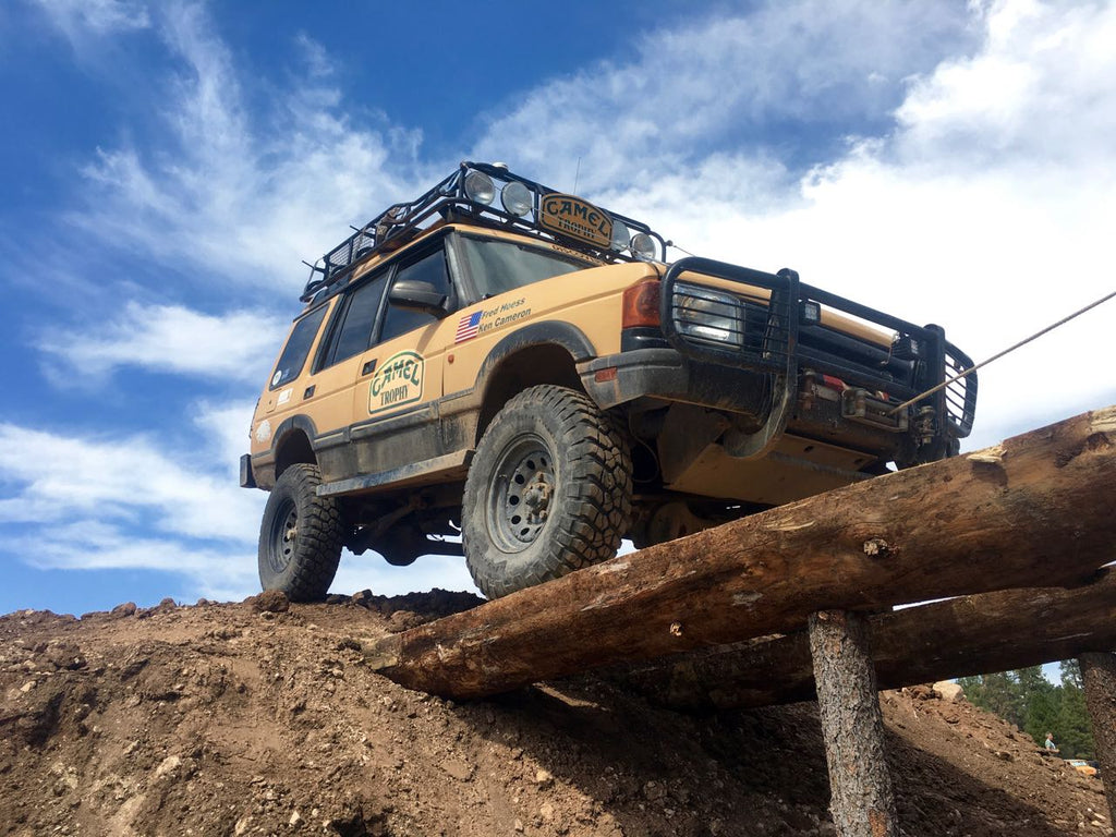 Land Rover Discovery on bridge
