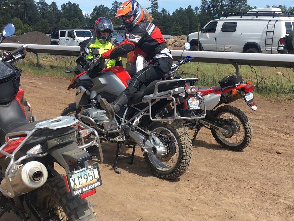Motorcycles at Overland Expo
