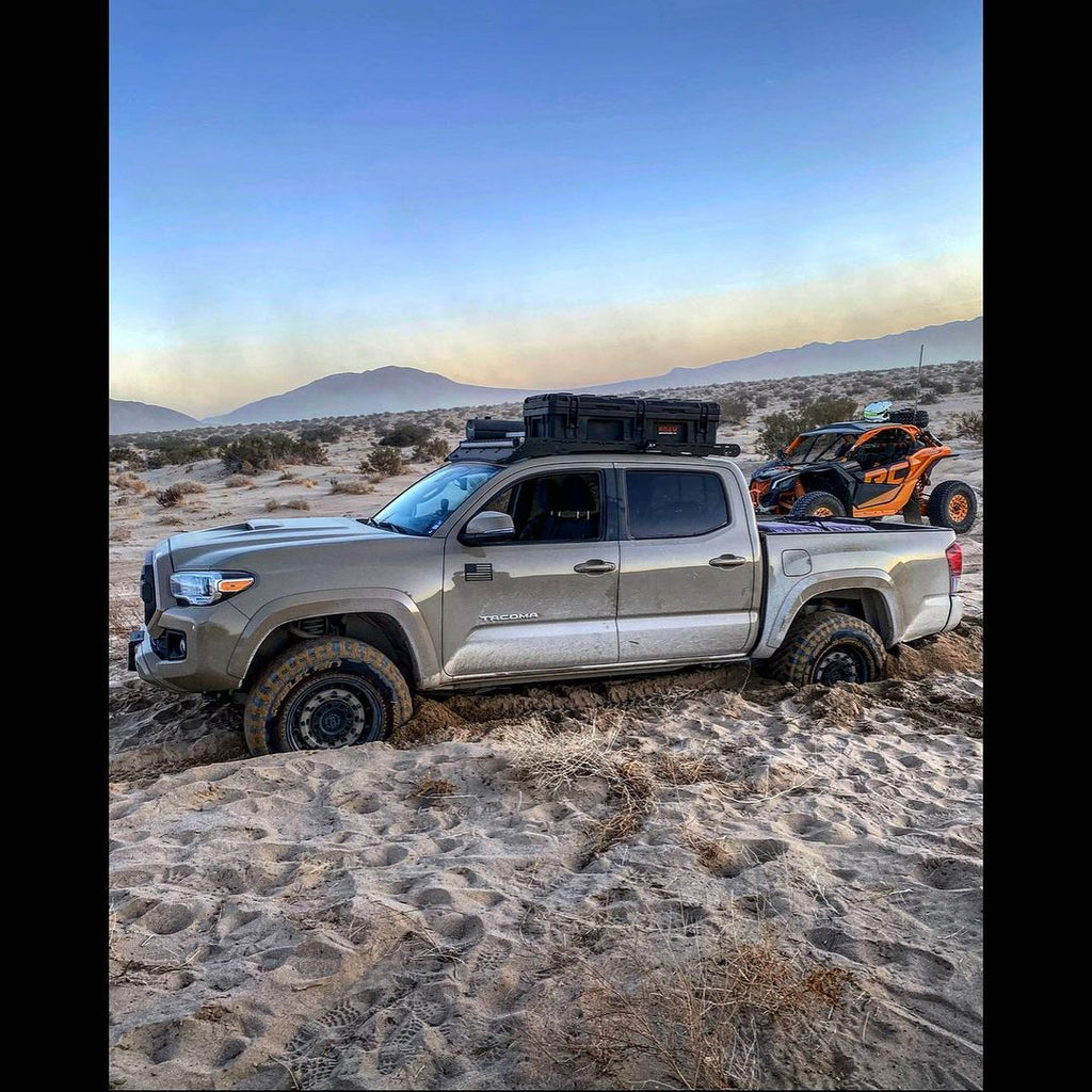 Toyota pickup in the sand