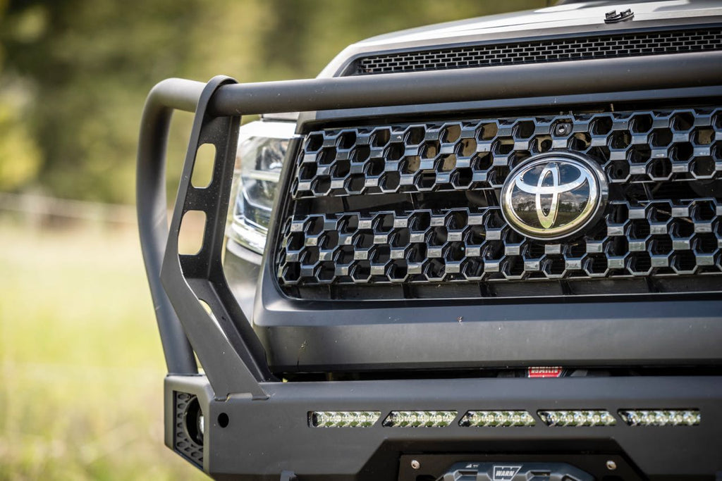 Front off-road bumper on Toyota
