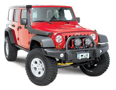 Jeep Wrangler with off-road bumper