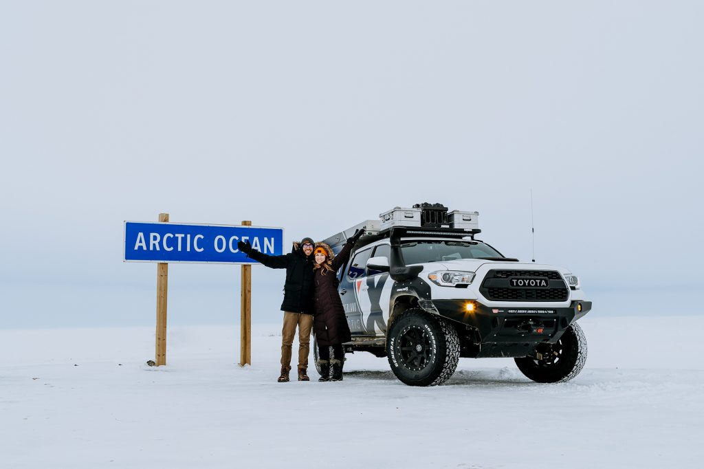 Richard and Ashley Giordano at the Arctic Ocean