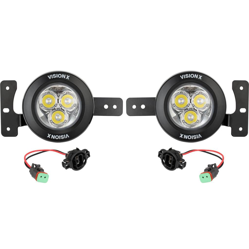 Vision X Jeep JL Factory Upgrade Bracket Kit (with CG2-CPM310 Lights)