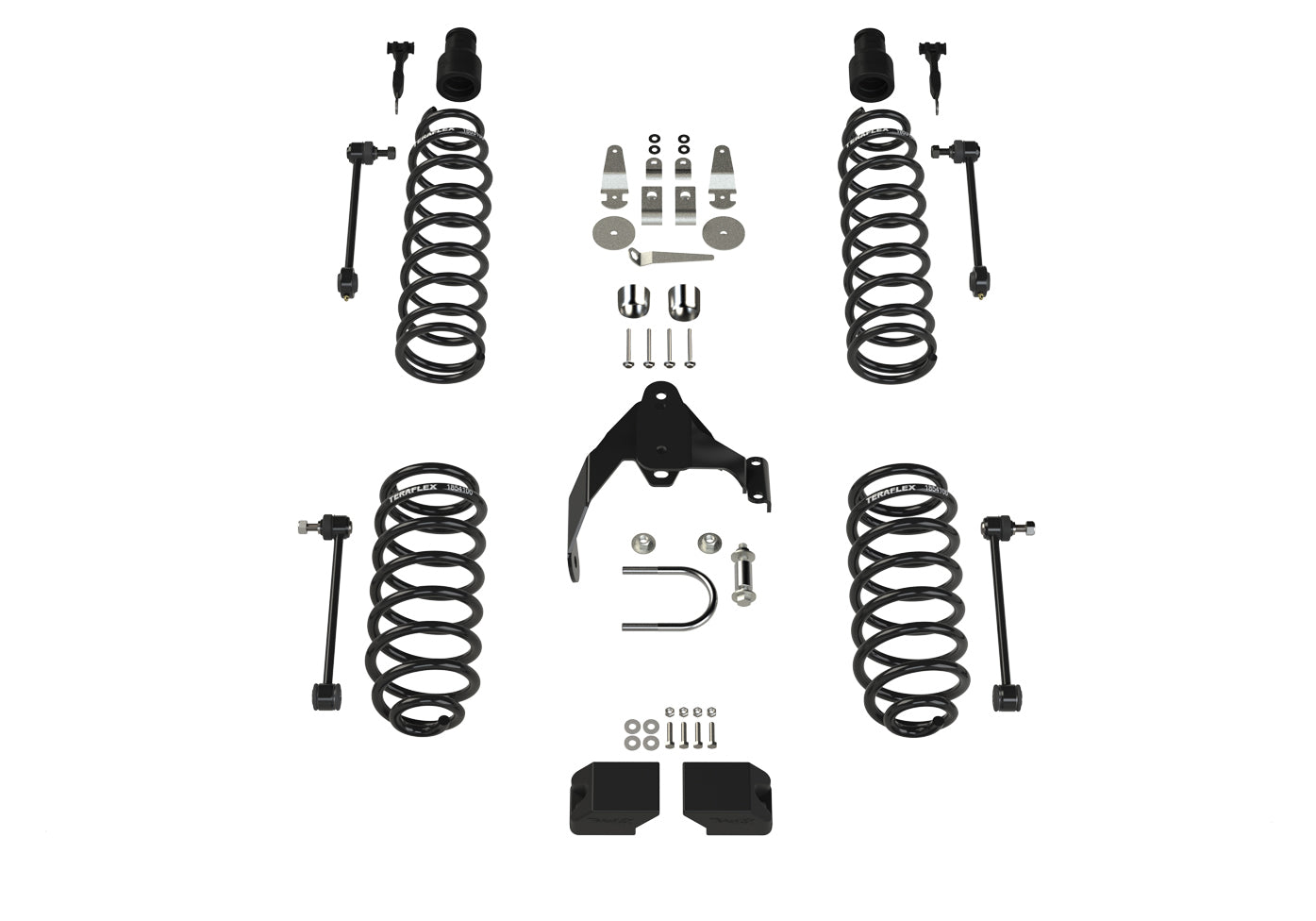 "Teraflex JK 2dr: 3"" Coil Spring Base Lift Kit – No Shocks"
