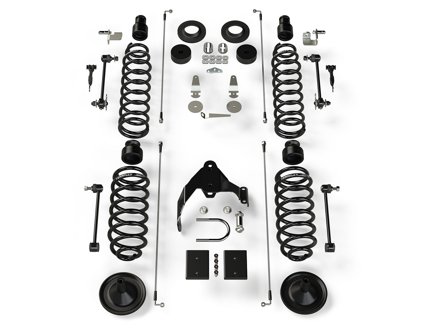 "Teraflex JK 4dr: 4"" Coil Spring Base Lift Kit – No Shocks"