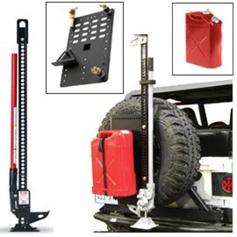 Hi-Lift Jack Kit with Jerry Can (Red) & Intelligent Rack