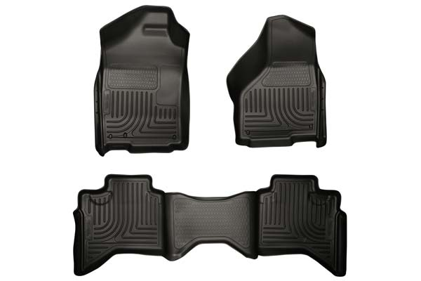 Husky Liners WeatherBeater Floor Liners Front and 2nd Row Set | Dodge Ram, Ram 1500/2500/3500