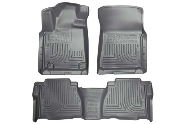 Husky Liners WeatherBeater Floor Liners Front and 2nd Row Set | 2007-2020 Toyota Tundra