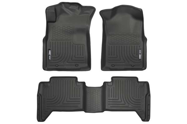 Husky Liners WeatherBeater Floor Liners Front and 2nd Row Set | 2005-2015 Toyota Tacoma