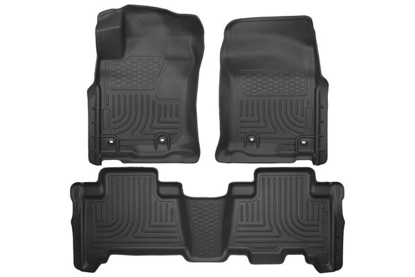 Husky Liners WeatherBeater Floor Liners Front and 2nd Row Set | 2010-2020 Toyota 4Runner