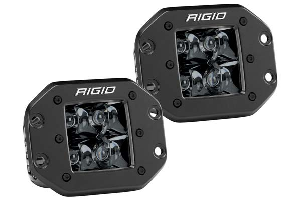 Rigid Industries Midnight Edition D Series LED Lights Flush Mount