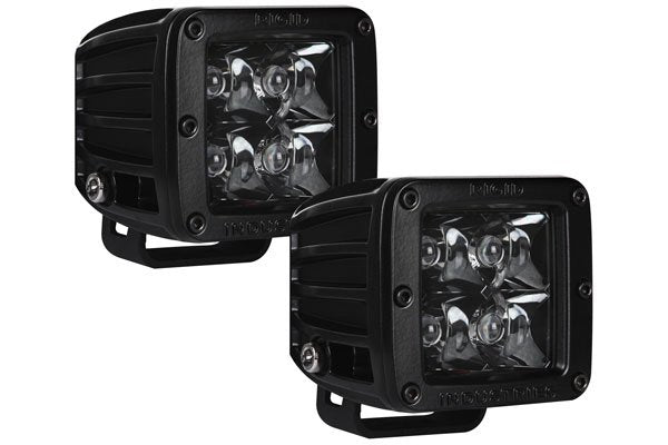 Rigid Industries Midnight Edition D Series LED Lights Standard Mount