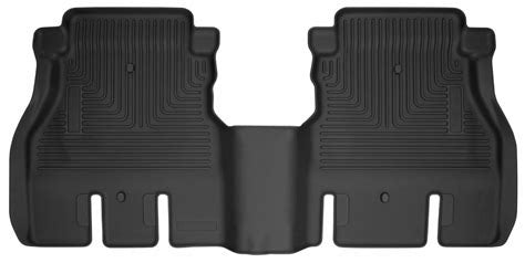 Husky Liners WeatherBeater Floor Liners 2nd Row Floor Liners | 2018-2020 Jeep Wrangler JL