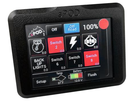 sPOD Add-On Touchscreen for 8 Circuit Systems sPOD