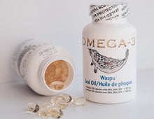 Load image into Gallery viewer, 2 bottles Omega-3 Seal Oil 500 mg 120 Capsules ($9.00 per bottle)