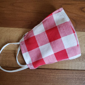 Red Gingham Facemask