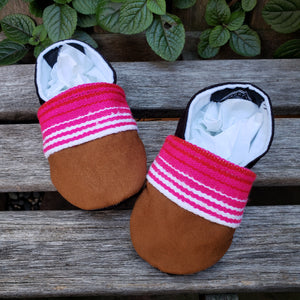 Mexican Sarape Booties in Pink