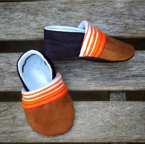 Mexican Sarape Booties in Orange