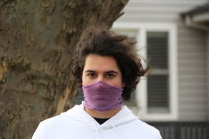Mini Purple Breathable Face Covering