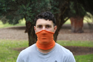 Maxi Orange Breathable Face Covering