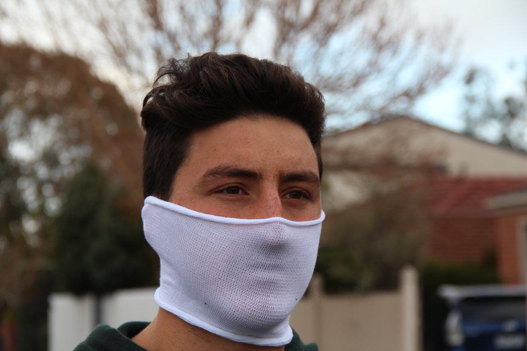 Mini White Breathable Face Covering