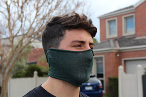 Mini Forest Green Breathable Face Covering