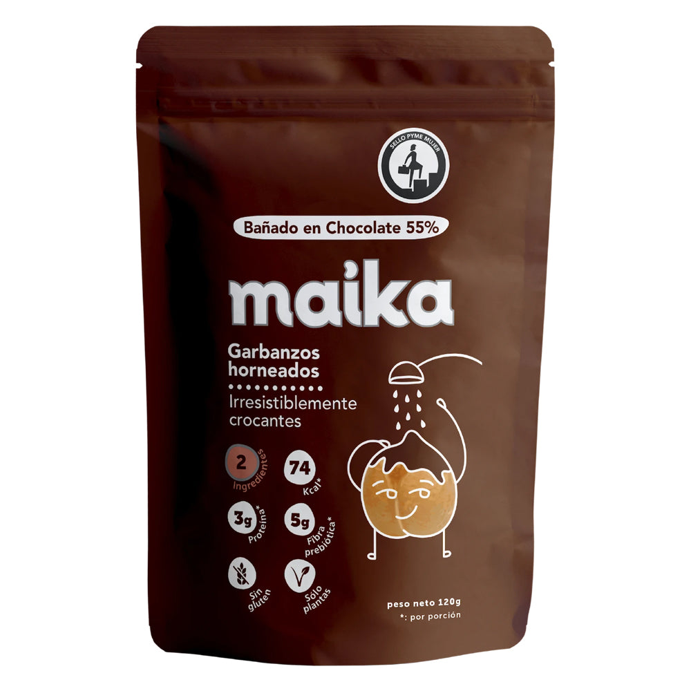 Maika - Snack Bolitas Garbanzos Chocolate Bitter 55%